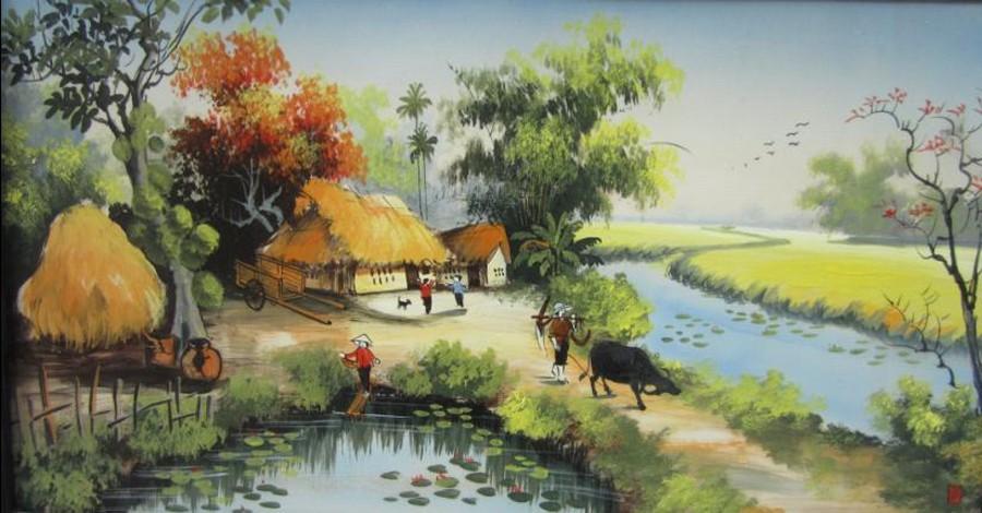 Vẽ tranh đề tài phong cảnh quê hương sông nước