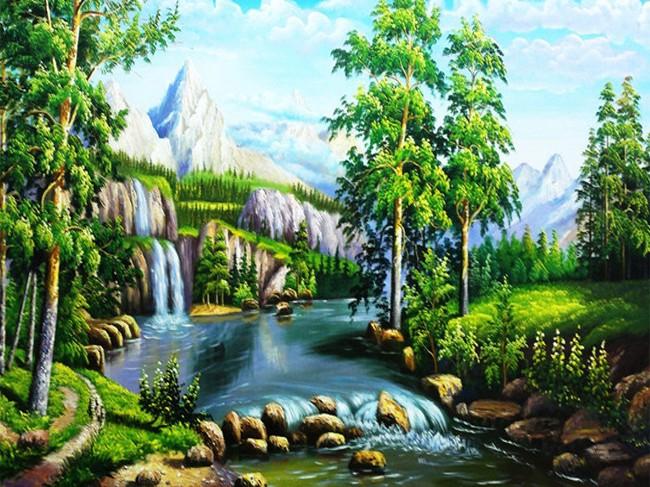 Vẽ tranh đề tài phong cảnh quê hương bắt gặp nhiều ở đâu ?