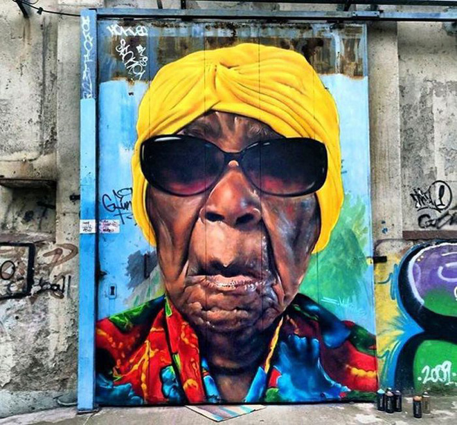 vẽ tranh đường phố graffiti