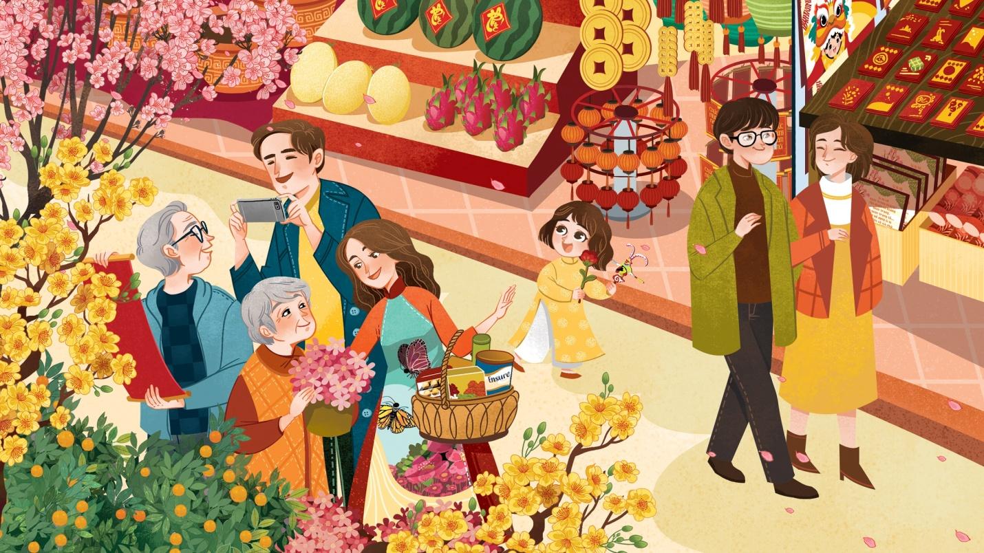 Chợ tết quê hương
