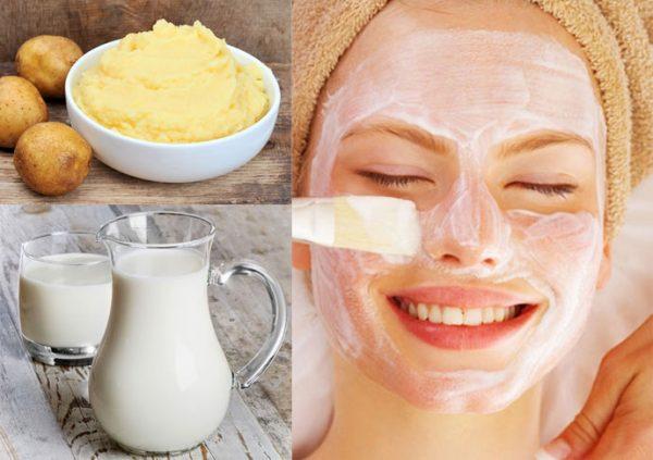 cách làm trắng da bằng sữa tươi không đường