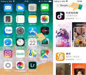 Cách tải Tik Tok Trung Quốc trên iphone 7